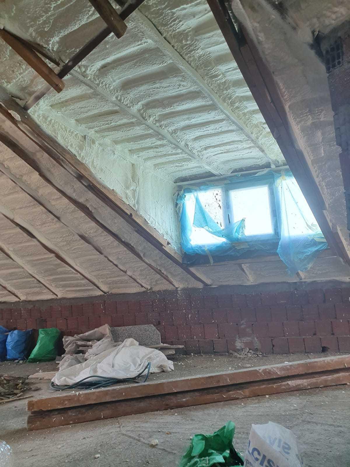 çatı katı sıkma köpük uygulaması