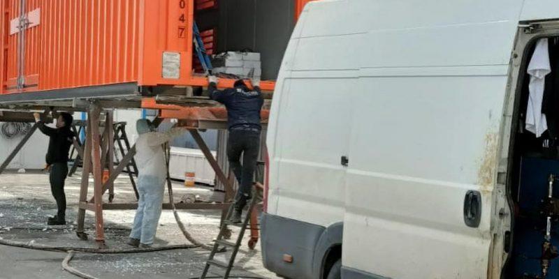 sprey poliüretan konteyner köpük uygulaması